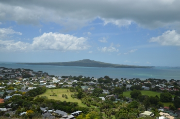 Rangitoto Island in the distance