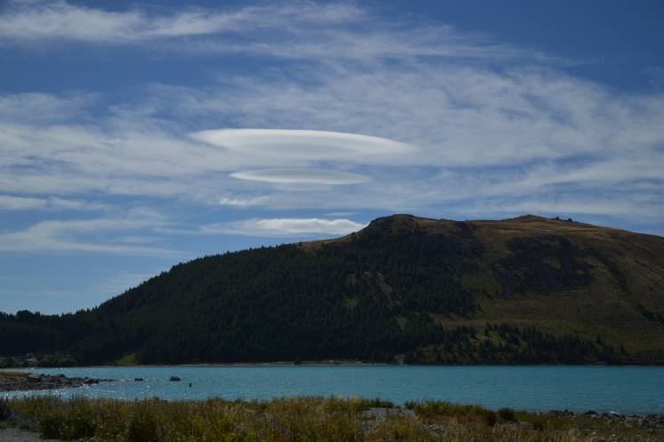 Strange clouds over Lake Tekapo