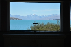 Pretty view from inside the church.