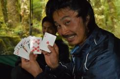 Naoki has a good hand!