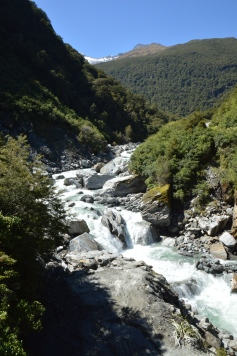 Rushing river at the Gates of Haast!