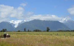Fox Glacier is visible. Mt. Tasman and Mt. Cook are undercover.