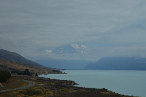 Mt. Cook under cloud cover.