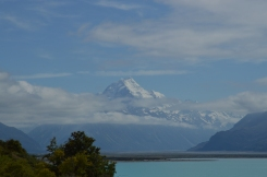 Mt. Cook beating back the clouds!