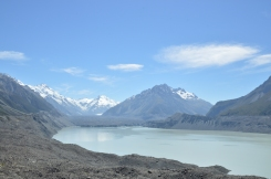 That is Tasman Lake. See the Glacier?