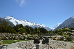 View from the Garden at the Mt. Cook i-Site.