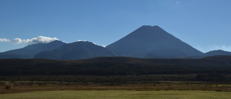 Mt. Ngauruhoe just to the left of the Chateau!