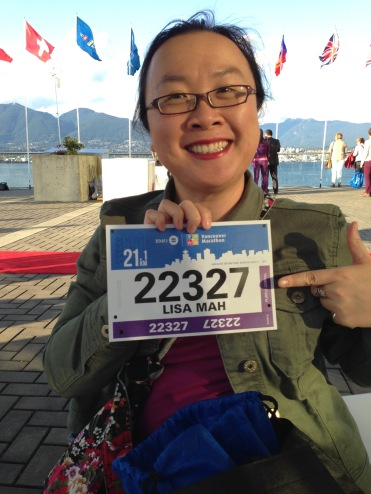 My first 1/2 marathon bib